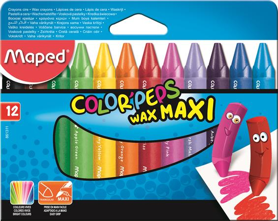Voskovky, MAPED Color Peps Maxi, Wax,...
